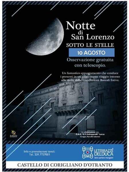Notte Di San Lorenzo Sotto Le Stelle Lunedì 10 Agosto 2015 A